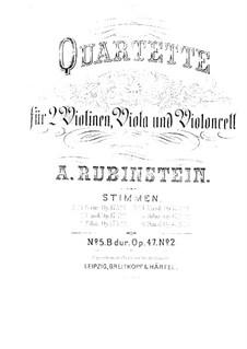 Quartett für Streicher Nr.5 in B-Dur, Op.47 No.2: Stimmen by Anton Rubinstein