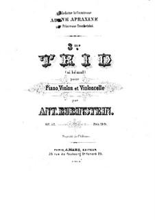 Klaviertrio Nr.3 in B-Dur, Op.52: Vollpartitur by Anton Rubinstein