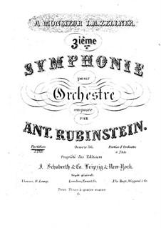 Sinfonie Nr.3 in A-Dur, Op.56: Sinfonie Nr.3 in A-Dur by Anton Rubinstein
