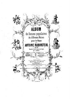Sieben Nationaltänze, Op.82: Nr.3 Tarantella by Anton Rubinstein