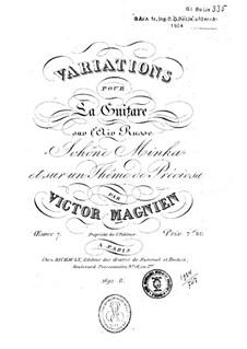 Variationen für Gitarre, Op.7: Variationen für Gitarre by Victor Magnien