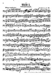 Klaviertrio No.1 in B-Dur, D.898 Op.99: Cellostimme by Franz Schubert
