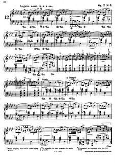 Mazurkas, Op.17: Nr.3 in A-Dur by Frédéric Chopin