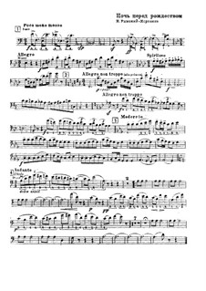 Die Nacht vor dem Christfeste. Oper: Fragment aus Kontrabassstimme by Nikolai Rimsky-Korsakov