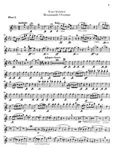 Ouvertüre: Oboenstimmen by Franz Schubert