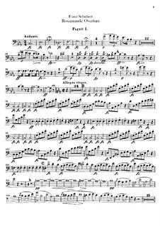 Ouvertüre: Fagottstimme by Franz Schubert