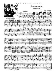 Fragmente: Ballettmusik Nr.1, für Klavier by Franz Schubert