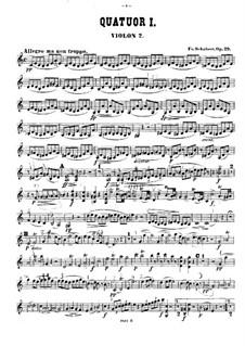 Streichquartett Nr.13 in a-Moll 'Rosamunde', D.804 Op.29: Violinstimme II by Franz Schubert