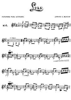 Habanera 'Solo', Op.6: Habanera 'Solo' by Antonio Jimenez Manjón