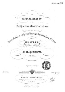 Cyanen als Folge der Nachtviolen, Op.5: Für Gitarre by Johann Kaspar Mertz