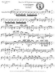 Lucia di Lammermoor: Ausgewählte Melodien für Gitarre by Gaetano Donizetti