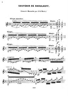Souvenir de Choulhoff. Concert-Mazurka: Souvenir de Choulhoff. Concert-Mazurka by Johann Kaspar Mertz