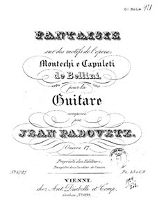 Fantaisie on motive from opera 'Montechi and Capuleti' by Bellini, Op.17: Fantaisie on motive from opera 'Montechi and Capuleti' by Bellini by Ivan Padovec