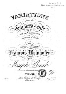 Variations on favorite valse, Op.3: Variations on favorite valse by Jos. Raab