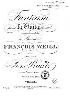Fantasie in D-Dur, Op.4: Für Gitarre by Jos. Raab