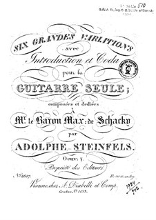 Six Grandes Variations, Op.7: Six Grandes Variations by Adolphe Steinfels