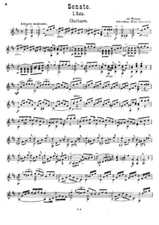 Sonata in D Major: Sonate in D-Dur by Ad. Werner