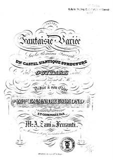 Fantasie und Variationen über Romanze 'Un castel d'unique structure', Op.20: Für Gitarre by Marco Aurelio Zani de Ferranti