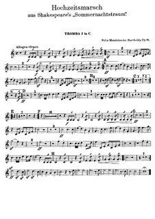Hochzeitsmarsch: Trompetenstimmen in C by Felix Mendelssohn-Bartholdy