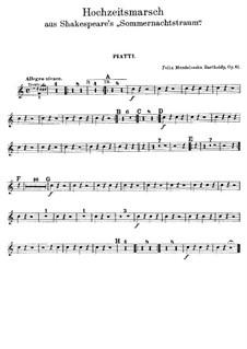 Hochzeitsmarsch: Beckenstimme by Felix Mendelssohn-Bartholdy