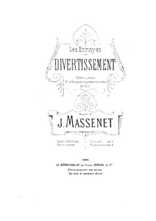 Les Érinnyes: Divertissement, for piano four hands by Jules Massenet