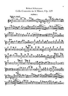 Konzert für Cello und Orchester in a-Moll, Op.129: Flötenstimme by Robert Schumann
