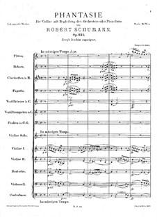 Fantasie in C-Dur, Op.131: Vollpartitur by Robert Schumann