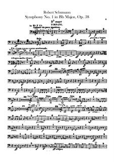 Sinfonie Nr.1 in B-Dur 'Frühling', Op.38: Schlagzeugstimmen by Robert Schumann