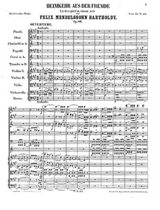Die Heimkehr aus der Fremde, Op.89: Ouvertüre by Felix Mendelssohn-Bartholdy