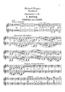 Siegfried, WWV 86c: Klarinettenstimmen I, II by Richard Wagner