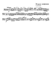 Symphony No.2: Excerpt for Double Bass by Sergei Taneyev