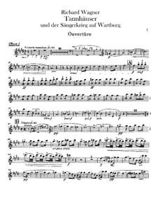 Vollständiger Oper: Oboenstimmen by Richard Wagner