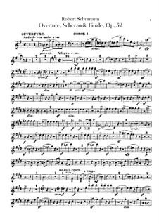 Ouvertüre, Scherzo und Finale, Op.52: Oboenstimmen by Robert Schumann