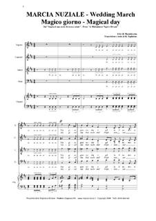 Hochzeitsmarsch: Für Stimmen und Orgel by Felix Mendelssohn-Bartholdy