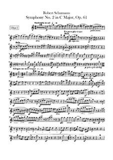 Sinfonie Nr.2 in C-Dur, Op.61: Oboenstimmen by Robert Schumann