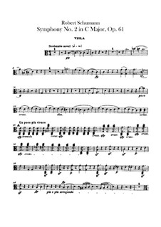 Sinfonie Nr.2 in C-Dur, Op.61: Violastimme by Robert Schumann
