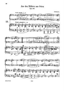 Bilder aus dem Osten, Op.66: Nr.4, für Harmonium und Klavier by Robert Schumann