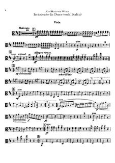 Aufforderung zum Tanze, J.260 Op.65: Für Orchester – Bratschenstimme by Carl Maria von Weber