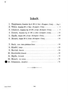 Zwölf Stücke für Klavier, vierhändig, Op.85: Nr.12 Abendlied, für Violine und Klavier by Robert Schumann
