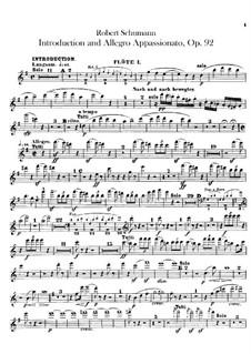 Introduktion und Allegro Appassionato, Op.92: Flötenstimme by Robert Schumann