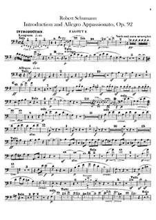 Introduktion und Allegro Appassionato, Op.92: Fagottstimme by Robert Schumann