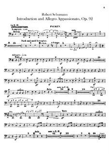 Introduktion und Allegro Appassionato, Op.92: Paukenstimme by Robert Schumann