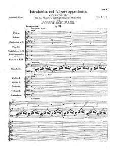 Introduktion und Allegro Appassionato, Op.92: Vollpartitur by Robert Schumann