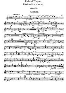 Götterdämmerung, WWV 86d: Oboe III- und Englischhornstimmen by Richard Wagner