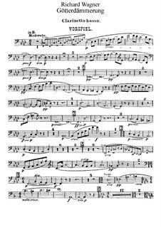 Götterdämmerung, WWV 86d: Bassklarinettenstimme by Richard Wagner