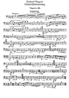 Götterdämmerung, WWV 86d: Fagottstimme III by Richard Wagner