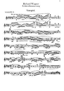 Götterdämmerung, WWV 86d: Violinstimme II by Richard Wagner