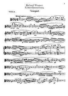 Götterdämmerung, WWV 86d: Violastimme by Richard Wagner