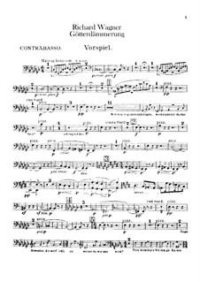 Götterdämmerung, WWV 86d: Kontrabässenstimme by Richard Wagner
