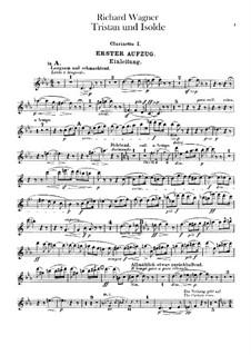 Vollständiger Oper: Klarinettenstimmen by Richard Wagner
